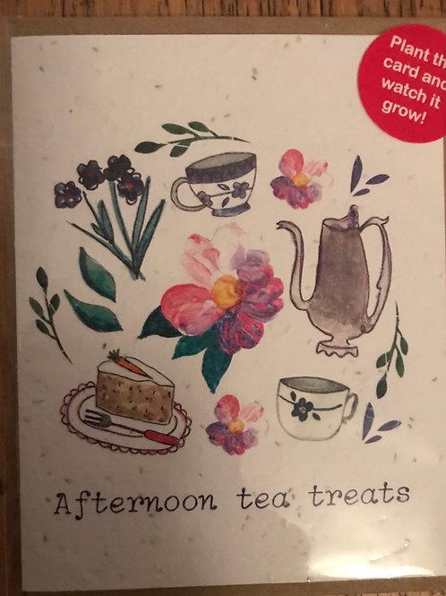 Afternoon Tea Treats plant the card