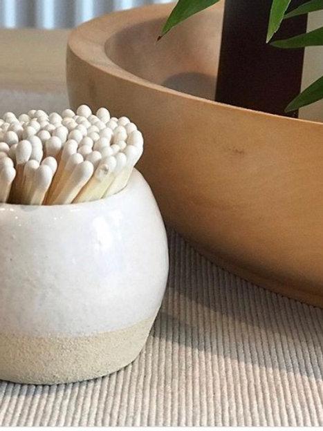 Hand Made Match Strike Pot