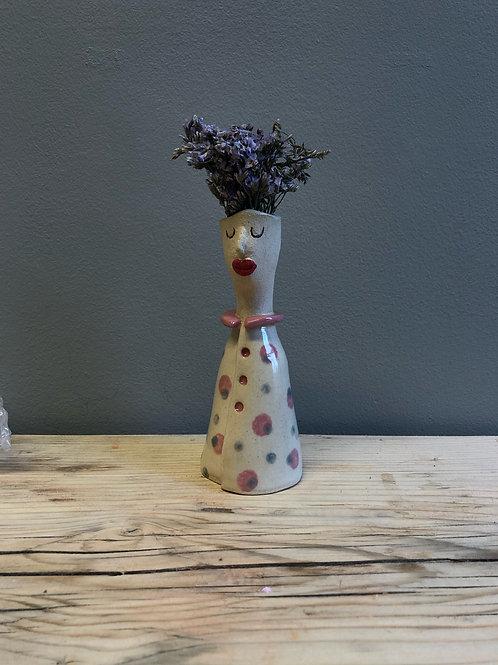 Handmade Ceramic Lady Vase