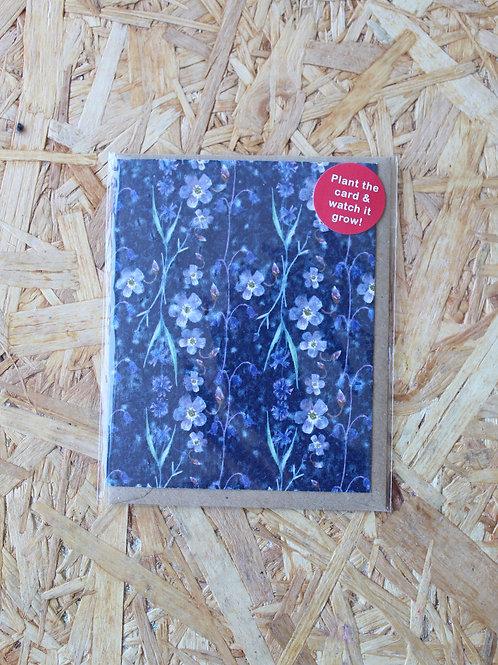 Blue & Purple Flowers Plant Card