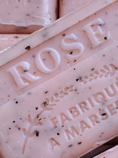 Rose Soap Bar with gentle exfoliating