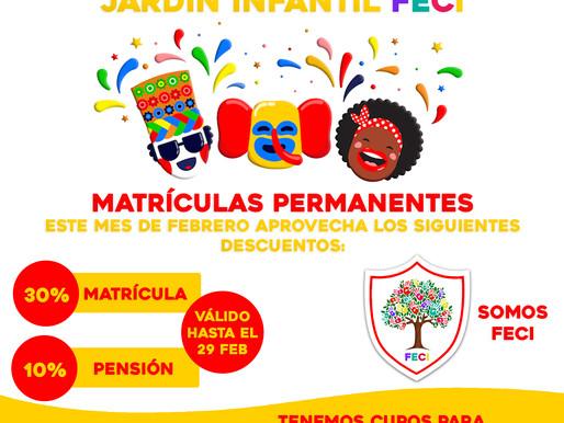 Descuentos carnavaleros Jardín Infantil FECI