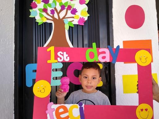 Primer día de clases Jardín Infantil FECI