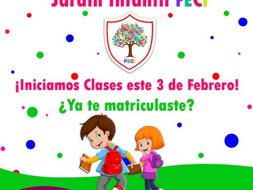 Inicio de clases Jardín Infantil FECI