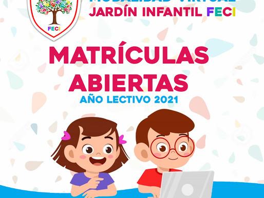 Proceso de matriculas año lectivo 2021