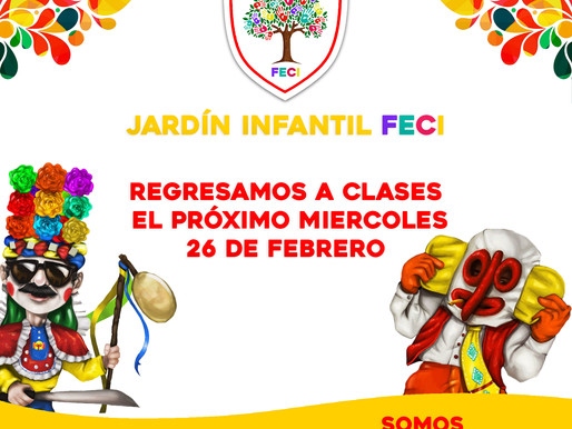 Receso carnavalero Jardín Infantil FECI