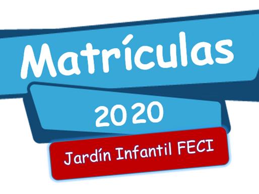 Matriculas Jardín Infantil FECI 2020