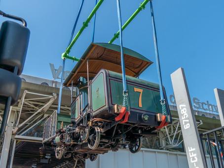 Überführung der Lok 7 vom Verkehrshaus nach Vitznau