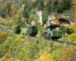 Lebensweg-Konvoi-Dampflok 7, 16, 17 Bild