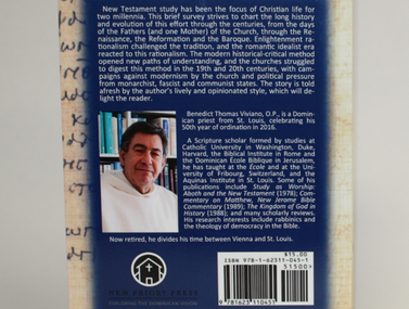 Back cover of A Short History of New Testament Studies