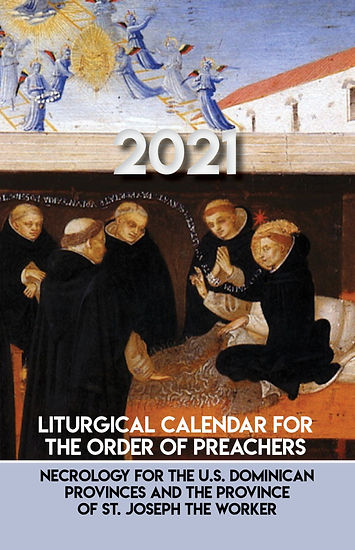 2021 Dominican Liturgical Calendar book cover