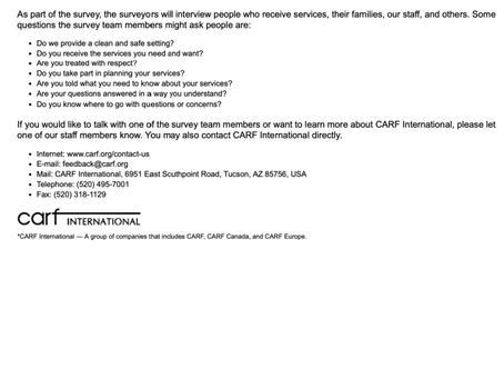 CARF International Digital Survey
