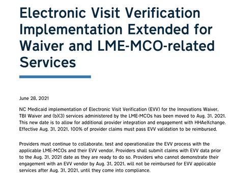Employees: EVV Start Date Delayed