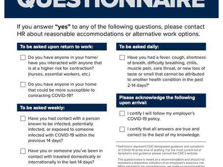TCS Employee Screening Questionnaire
