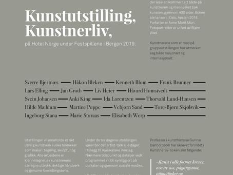 Kunstutstilling på Hotel Norge under Festspillene i Bergen 2019