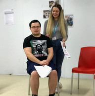 Elise and Christ Rehearsing