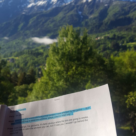 Script at French Alps