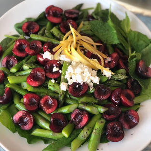 Cherry and Asparagus Salad
