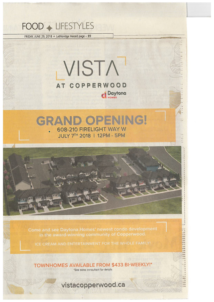 Vista At Copperwood Grand Opening!
