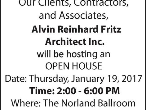 Alvin Reinhard Fritz Architect Inc. Open House