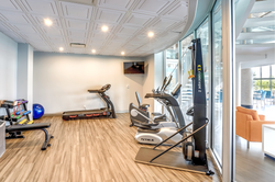 Among the numerous ammenities is an exercise room