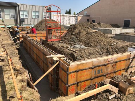 Construction starting at the Lethbridge Christian School