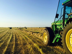 hay being rolled