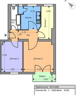 Plan mieszkania Wedding