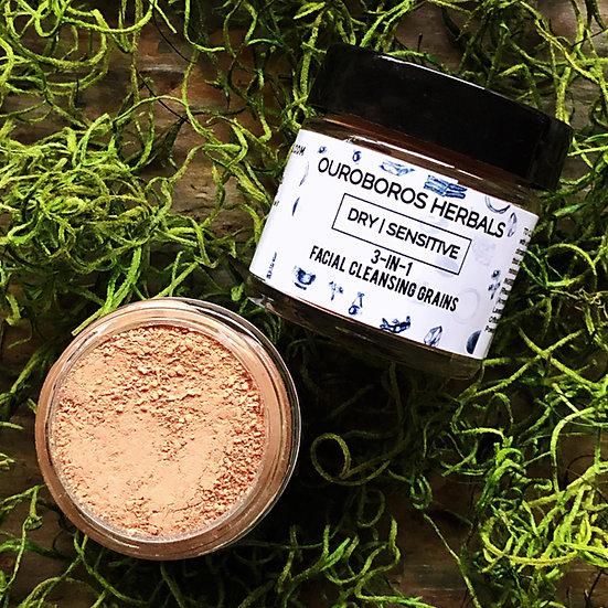 Dry/Sensitive Skin 3-In-1 Facial Cleansing Grains -Dry/Sensitive Skin