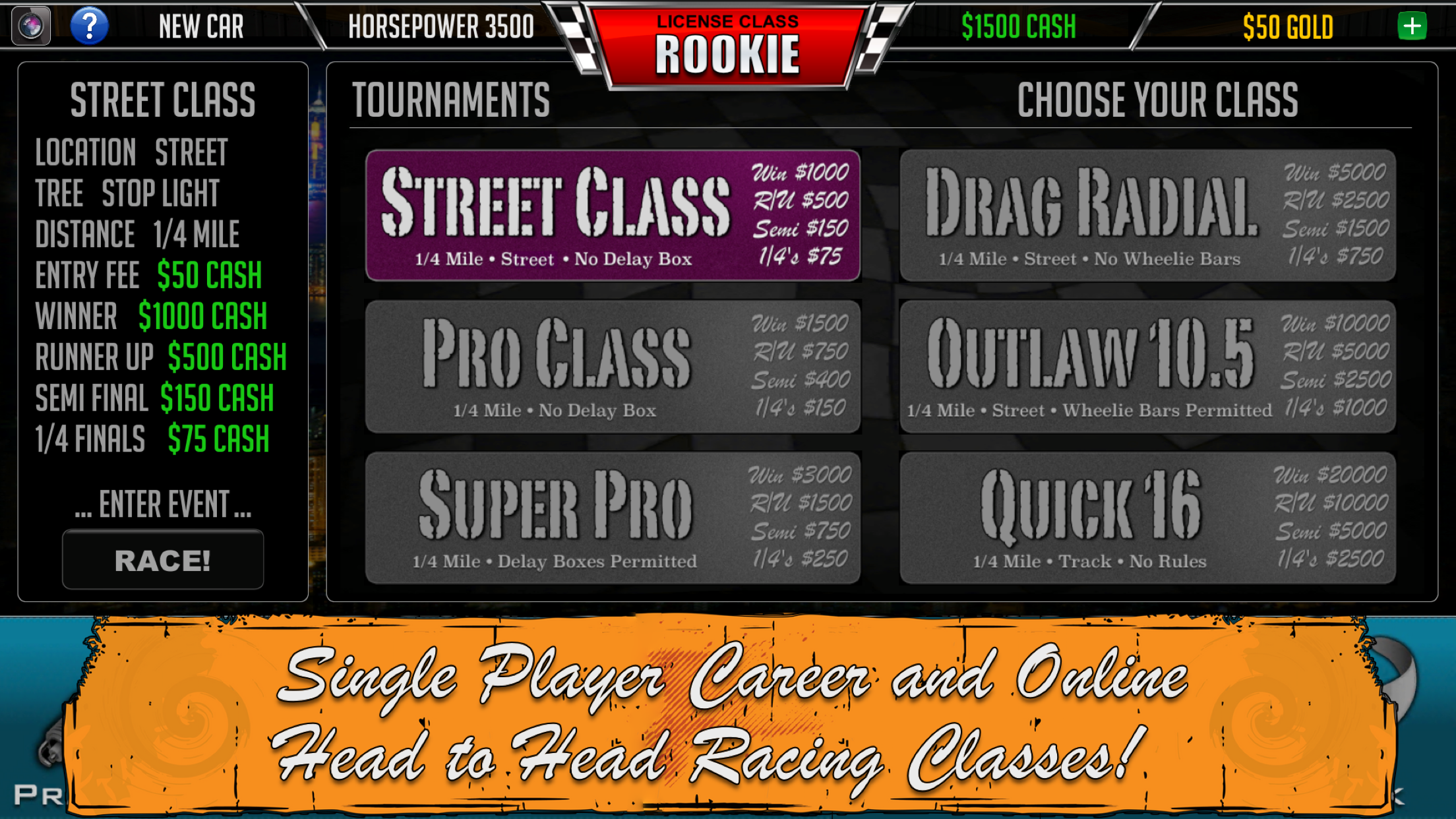 Door Slammers Racing Classes