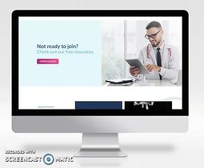 Association of Healthcare Social Media Website Design