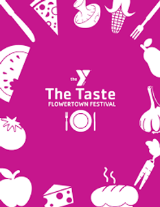 Flowertown Festival Taste Cover Artwork Illustration Summerville YMCA