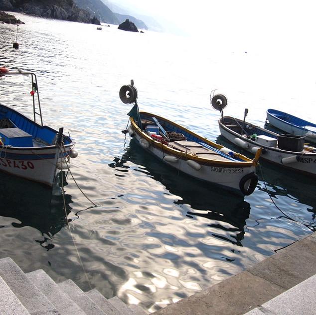 Italian Coast Fishing Boats