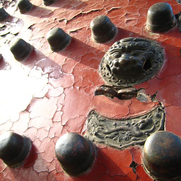 Forbidden City Door Knocker Red