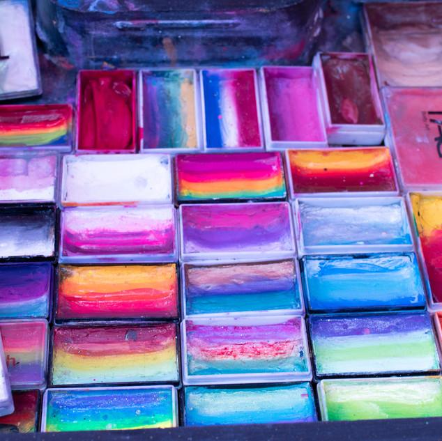 Flowertown Festival Colorful Face Paint