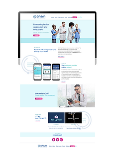 AHSM Website Design Healthcare Social Media