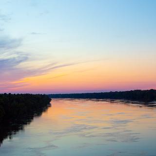 Sunset Over Louisiana Road Trip
