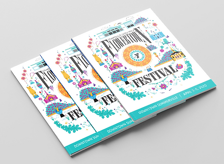 Summerville YMCA Flowertown Festival Cover Graphic Design Push Creative