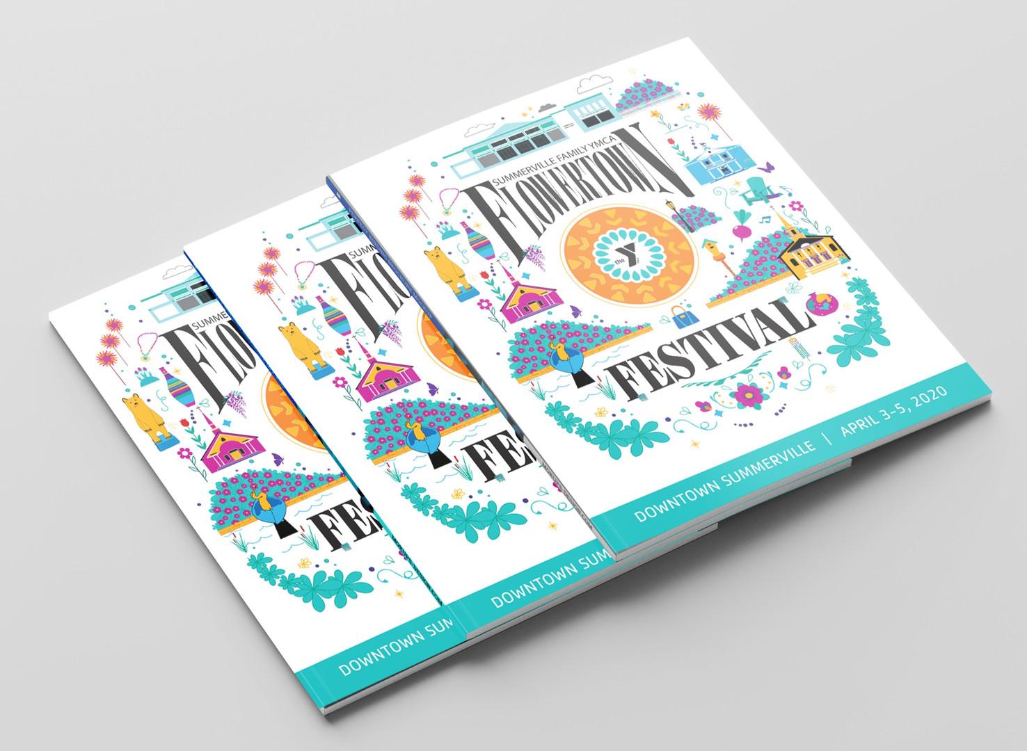 Summerville Family YMCA Flowertown Festival 2021 Artwork Cover