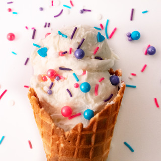 Colorful Ice Cream Cone Food Photography