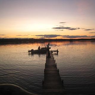Sunset Wisconsin Lake Side