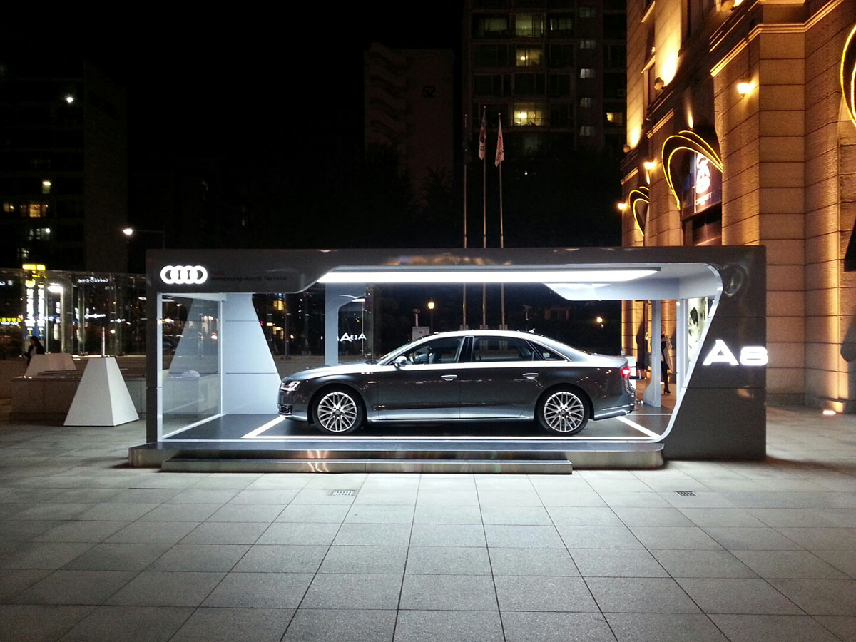 The new Audi A8 Exhibition