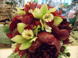 Christmas peonies and orchids