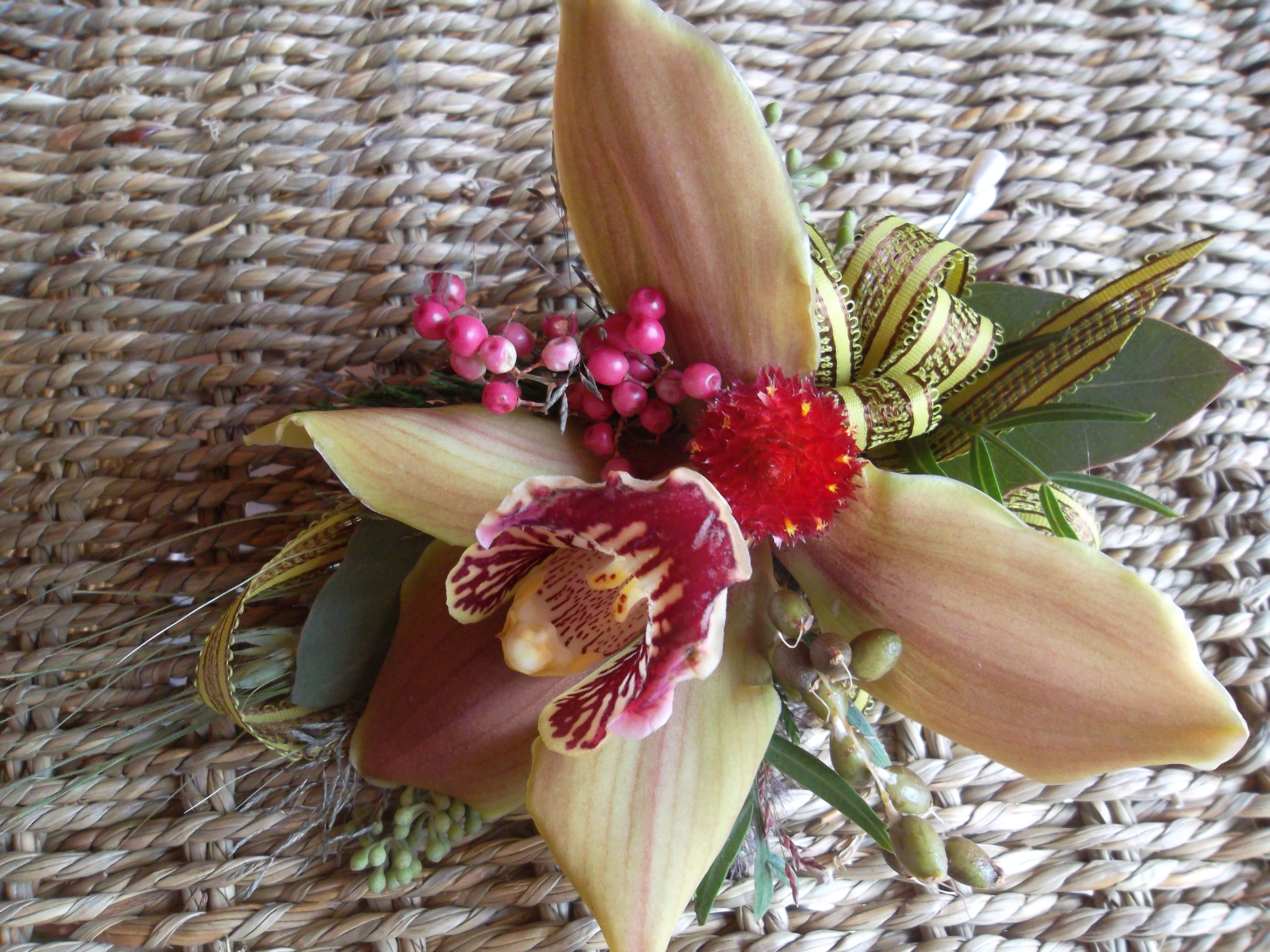 Fall orchid corsage