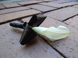 black and white calla boutonniere