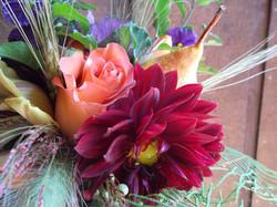 vibrant Fall bouquet detail
