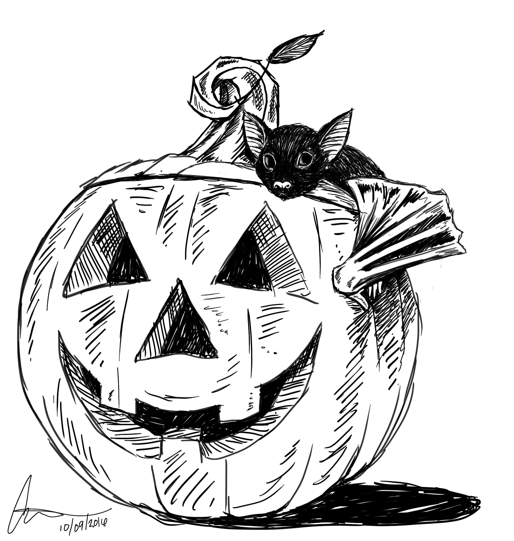 BatPumpkinSketch