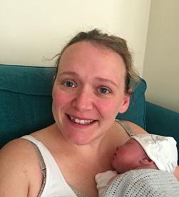 Angharad and Sam's birth story