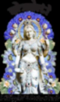 Shakti Blissful Botanicals Logo of the Goddess Shakti with Entheobotanicals surrounding her