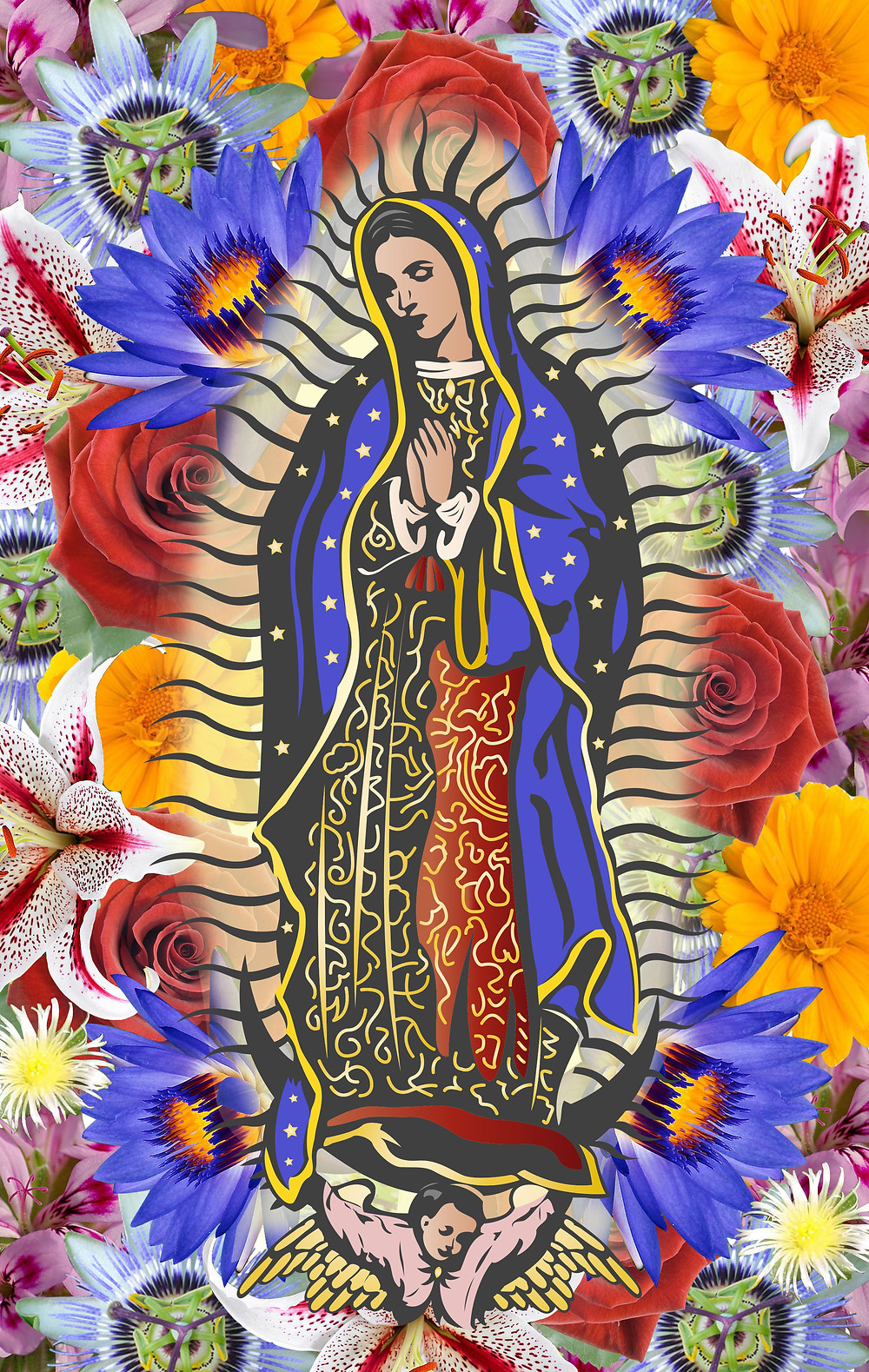 Virgin of Guadalupe Flower Medicine Logo